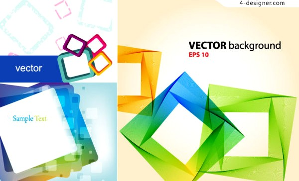 Vector material of personalized colorful box background