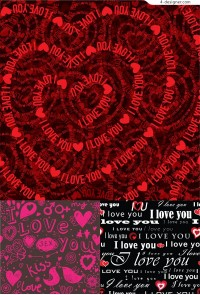 Vector material of romantic love background