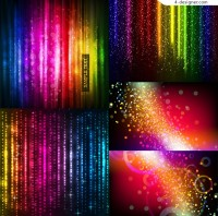 Vector material of star bright colorful background