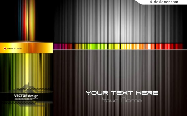 Vector material of textured background with fantasy stripes