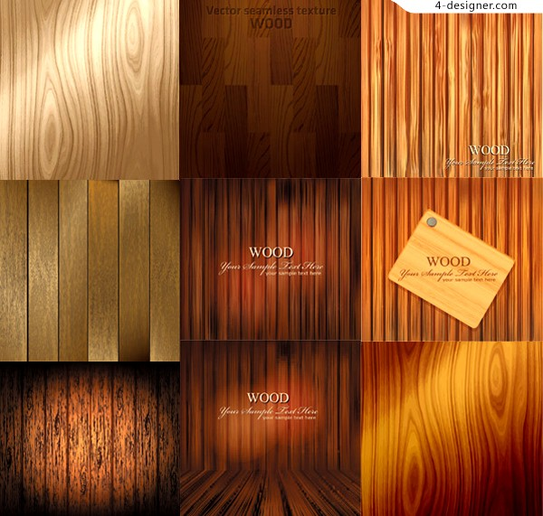 Wood texture background vector material