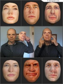 6 Hollywood star Look alikes Paper Face Mould
