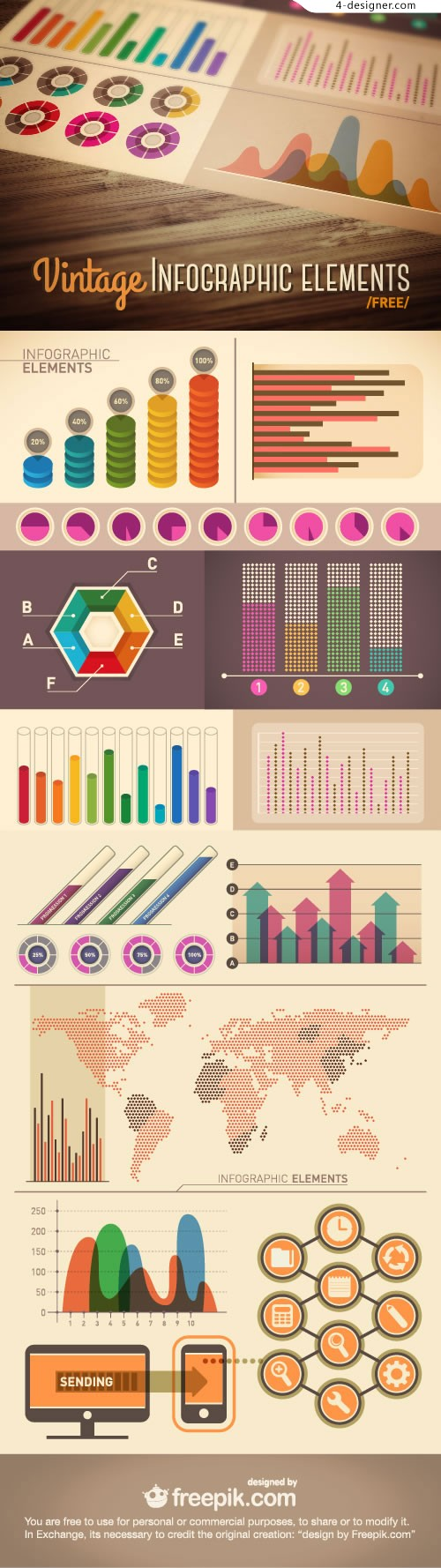Business Data Charts Vector Material