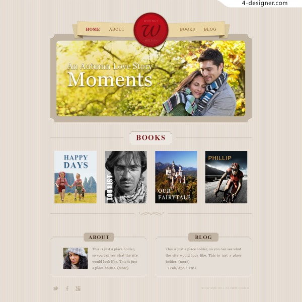 Classic Foreign Love Websites PSD Layered Material