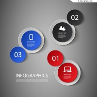 Creative Iinfographics with Circular Theme Design Vector Material 2