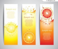Fruit Banners Vector Material