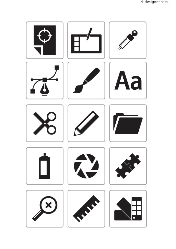 Icon commonly used icons