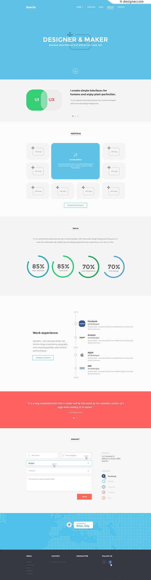 Resume Page Templates