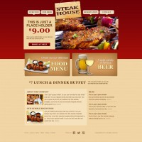 Classic cuisine website PSD layered material