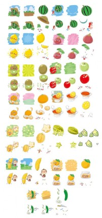Q edition collection of fruit expression