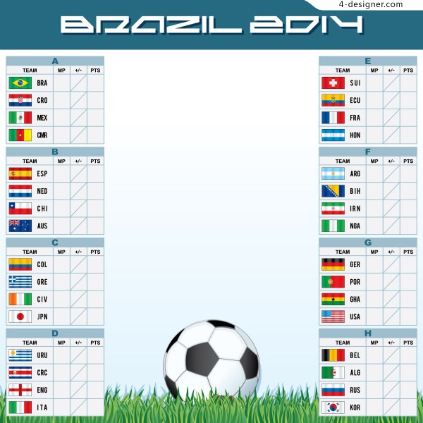 2014 Brazil World Cup Vector 3