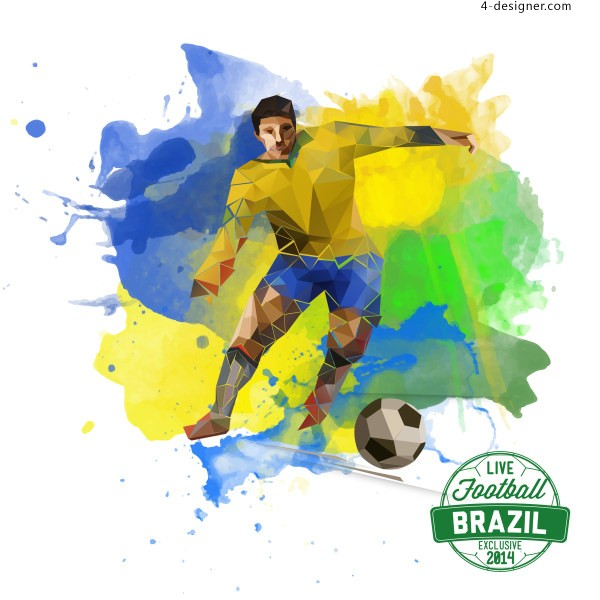 2014 Football World Cup in Brazil Vector 6