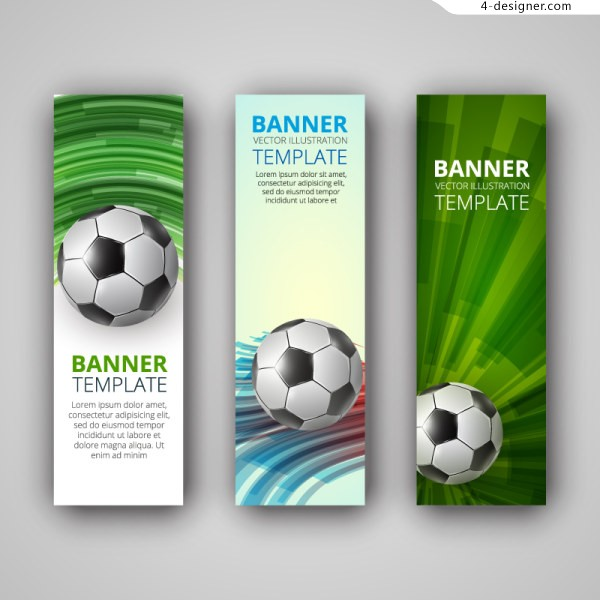 Beautifully soccer banner vector material