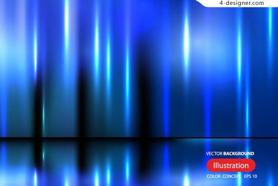Blue glare background vector material