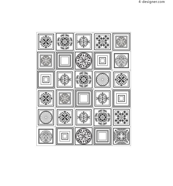 Classic pattern shading vector material