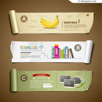 Creative information display banner vector material