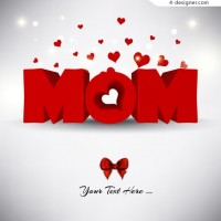 Mother s Day theme vector material