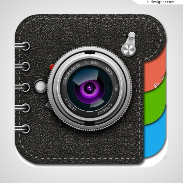Realistic copy camera icon psd