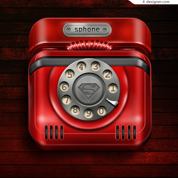 Red telephone psd material