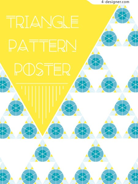Simple polygon vector background material