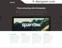 Sparrow a very nice Responsive HTML5 Template