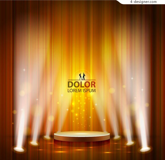 Stage lighting design vector material