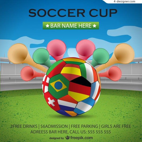 World Cup soccer poster background