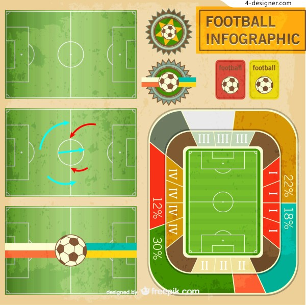 World soccer free infographics vector