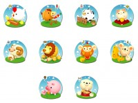 10 cute animals favorite food PNG Icon 128x128px