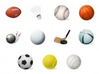 11 kinds of sports balls icon PNG 128x128px