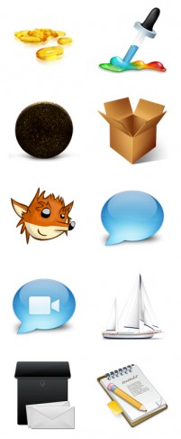 16 life items PNG icons 256x256px