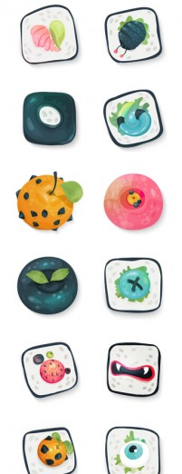 20 lovely hand painted PNG Icon 256x256px