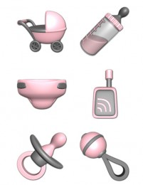 3D Baby PNG Icon 256x256px