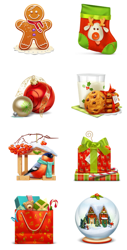 3D Christmas PNG icon 256x256px
