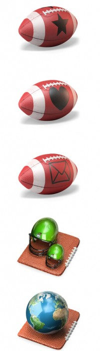 3D football PNG Icon 512x512px