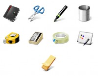3D stationery PNG Icon 128x128px