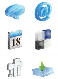3D stereo bookmark PNG icons 256x256px