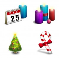 3D texture of Christmas icons PNG Icons 256x256px