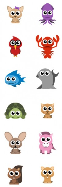 40 cute little animals PNG icons 256x256px
