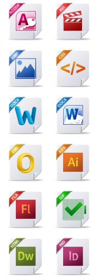 40 kinds of file formats PNG Icons 256x256px