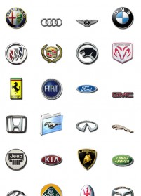 44 vehicle standard PNG icons 128x128px