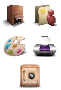5 texture PNG icons 256x256px