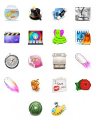 A variety of fine living common objects PNG Icon 128x128px