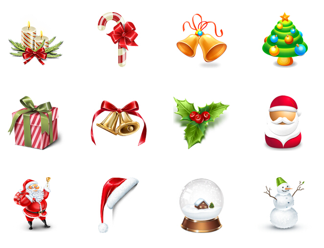 Beautiful Christmas PNG icon 128x128px