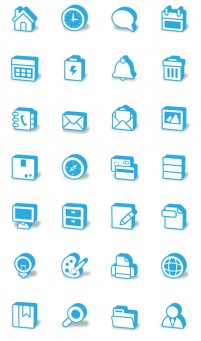 Blue compact stereo PNG icons 128x128px