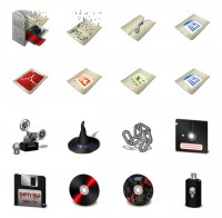 CD player and DVD series PNG icons 128x128px