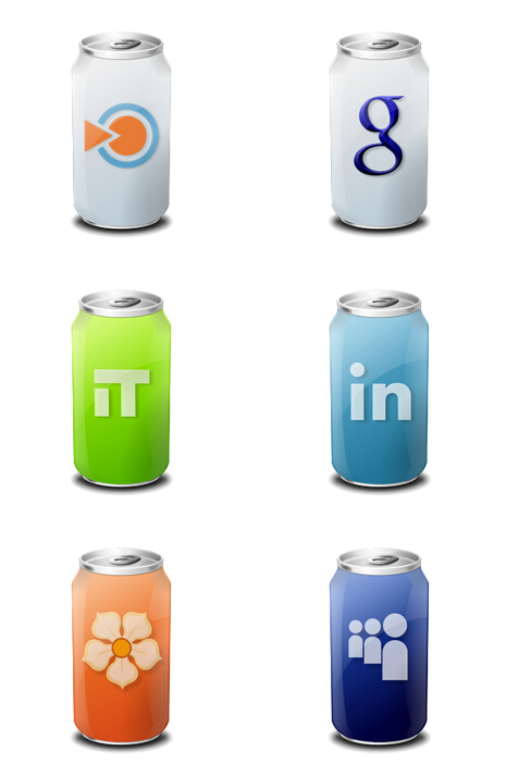 Cans style website logo PNG icons 256x256px