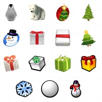 Cartoon Christmas PNG icon 128x128px