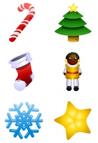 Cartoon style Christmas PNG icon 256x256px
