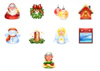 Christmas and New Year PNG icons 128x128px